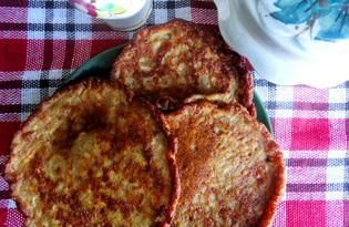 Печеночные оладьи с плавленным сыром (пошаговый фото рецепт)