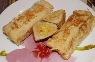Рулеты из хлеба с сыром (пошаговый фото рецепт)