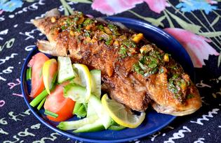 """Жареная рыба под """"шубой"""" (пошаговый фото рецепт)"""