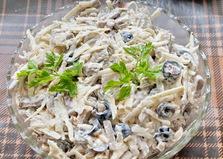 Салат из корня сельдерея и грибов (пошаговый фото рецепт)