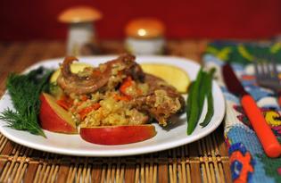 Кролик в кисломолочном соусе с рисом (пошаговый фото рецепт)