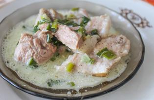 Мясная подлива с майонезом и зеленым луком (пошаговый фото рецепт)