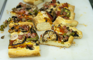 """Пицца """"Изобилие"""" (пошаговый фото рецепт)"""