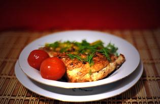 Окорочок жареный с картофелем (пошаговый фото рецепт)