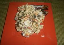 Салат с консервированной салакой, морковью и синим луком «Красивейшее чудо» (пошаговый фото рецепт)