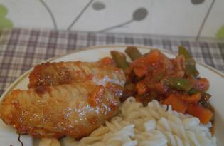 Крылышки в томатном соусе (пошаговый фото рецепт)