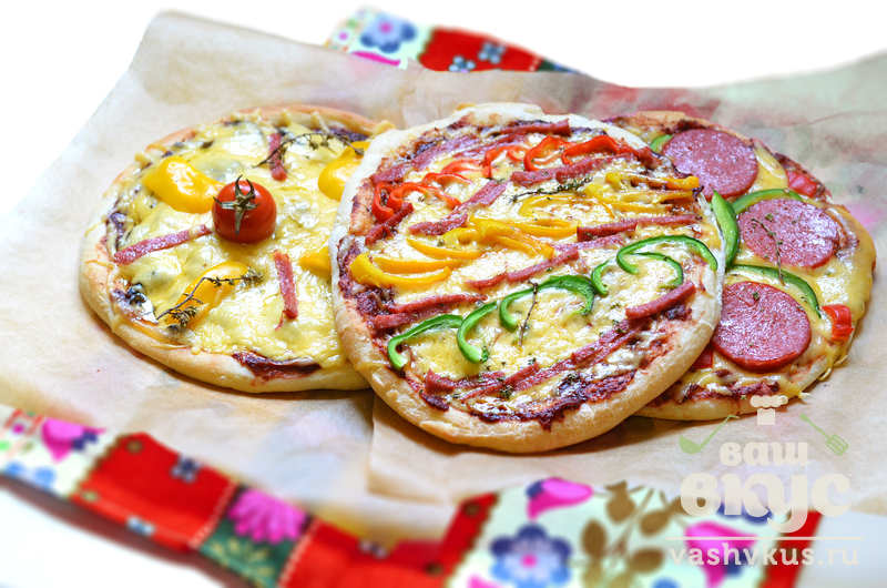 Пицца на готовой основе с грибами рецепт