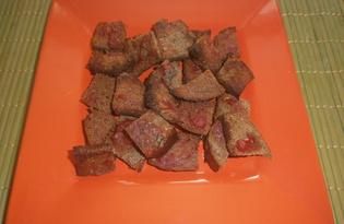 Домашние сухарики с чесноком и аджикой (пошаговый фото рецепт)