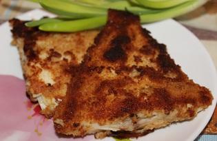 Камбала в панировке (пошаговый фото рецепт)