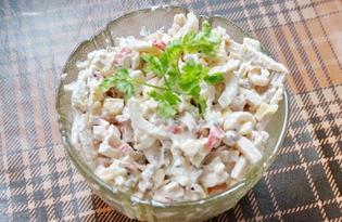 Салат с морепродуктами и сыром (пошаговый фото рецепт)