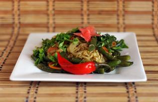 Овощи с лапшой «Доширак» (пошаговый фото рецепт)