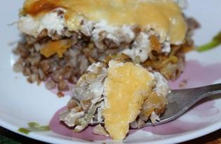 Запеканка из гречки с курицей (пошаговый фото рецепт)
