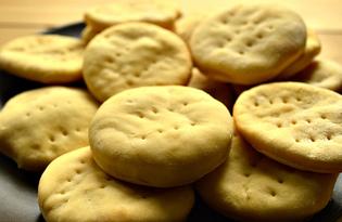 Лепешки на маргарине в духовке (пошаговый фото рецепт)