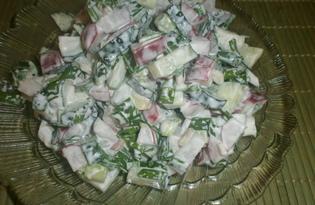 Салат с редиской «Весенний блюз» (пошаговый фото рецепт)