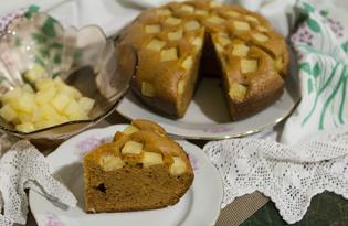 Бисквит с ананасом в мультиварке (пошаговый фото рецепт)