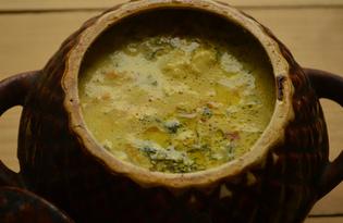 Картошка с куриными крылышками в горшочке (пошаговый фото рецепт)