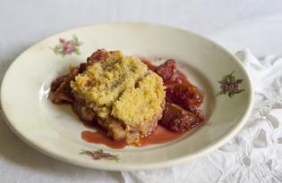 Крамбл с ягодами и яблоками (пошаговый фото рецепт)