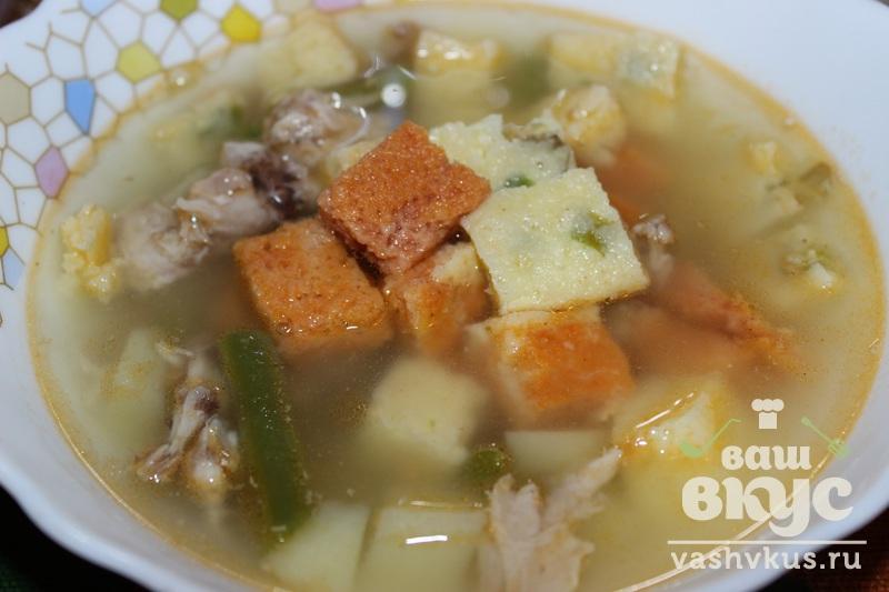 Куриный суп с фасолью рецепт с фото