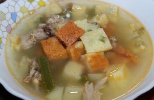 Куриный суп со стручковой фасолью и клецками (пошаговый фото рецепт)