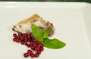 Пирог с красной смородиной, овсянкой и орехами (пошаговый фото рецепт)