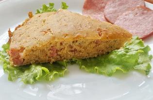 Пирог с сыром и колбасой (пошаговый фото рецепт)
