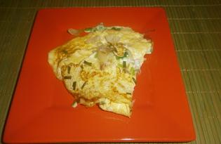 Омлет с зеленым луком (пошаговый фото рецепт)