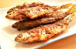 Речная рыба жареная в панировочных сухарях (пошаговый фото рецепт)