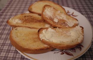 Гренки с маслом (пошаговый фото рецепт)