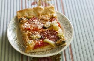 Пицца домашняя с морепродуктами (пошаговый фото рецепт)