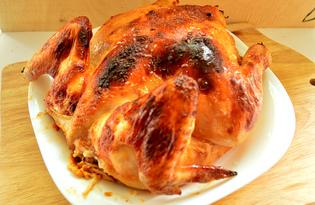 Цыпленок, запеченный в майонезе и кетчупе (пошаговый фото рецепт)
