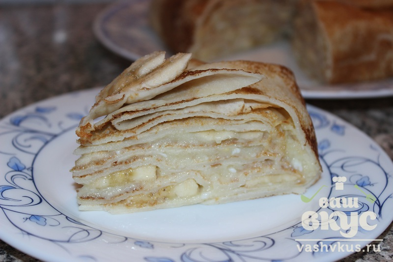 торт из блинов рецепт с заварным кремом
