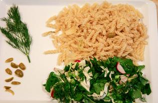 Паста с оливками, каперсами и сыром Манчего (пошаговый фото рецепт)