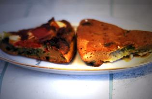 Заливной пирог с помидорами и брынзой (пошаговый фото рецепт)