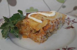 Запеканка с рисом и капустой (пошаговый фото рецепт)