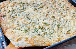 Пицца с курицей и ананасом (пошаговый фото рецепт)