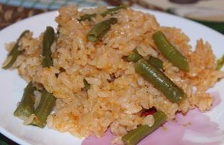 Рис со стручковой фасолью в мультиварке (пошаговый фото рецепт)