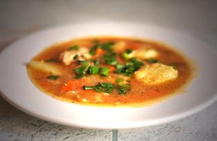 Кукурузный суп с клецками по венгерским мотивам (пошаговый фото рецепт)