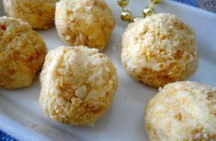 Нежные рафаэлло в крекере (пошаговый фото рецепт)