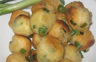 Испанские пончики с зелёным луком (пошаговый фото рецепт)
