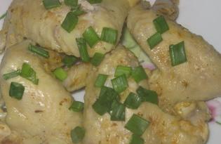 Куриные крылышки в луково - чесночном соусе (пошаговый фото рецепт)