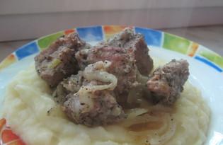 Свинина на луковой подушке (пошаговый фото рецепт)