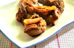 Шашлык из свинины с помидорами и луком на сковороде (пошаговый фото рецепт)