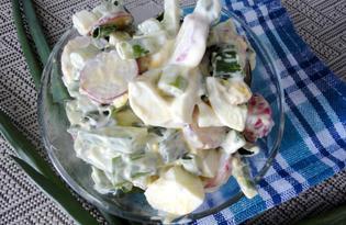 Овощной салат с соевым соусом и майонезом (пошаговый фото рецепт)