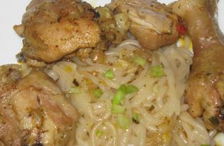 Паста с курятиной (пошаговый фото рецепт)