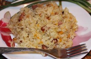 Рис с беконом в мультиварке (пошаговый фото рецепт)