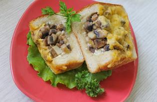 Жульен с грибами в хлебе (пошаговый фото рецепт)
