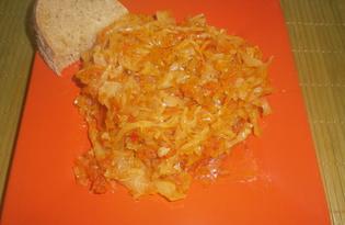 Тушеная капуста на сковороде (пошаговый фото рецепт)