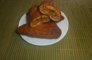 Жареные пирожки с начинкой из перца с капустой (пошаговый фото рецепт)