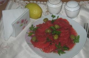 Помидоры с оливками (пошаговый фото рецепт)