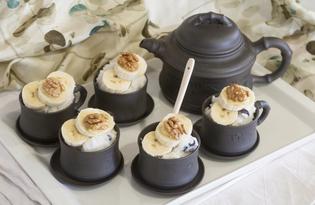 Рисовый пудинг с бананами и орехами (пошаговый фото рецепт)